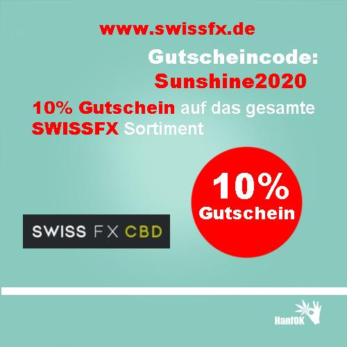 10 Prozent Rabatt SwissFXCBD