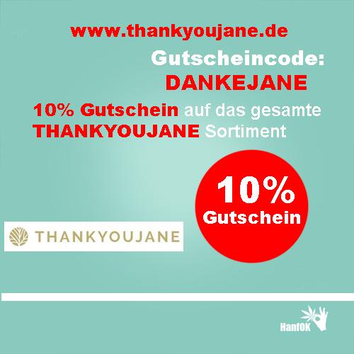 10 Prozent Rabatt THANKYOUJANE